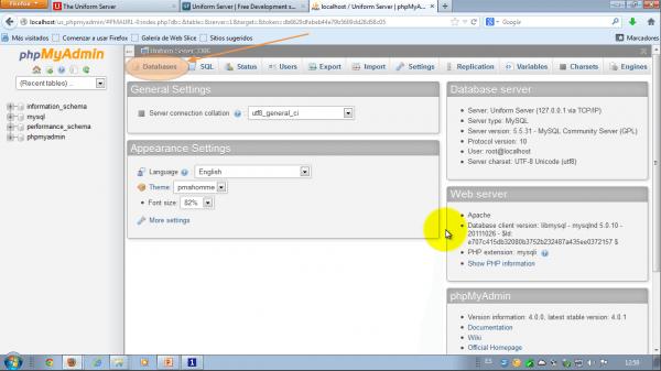 phpMyAdmin. Administrando bases de datos
