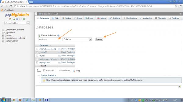 Crear base de datos wordpress
