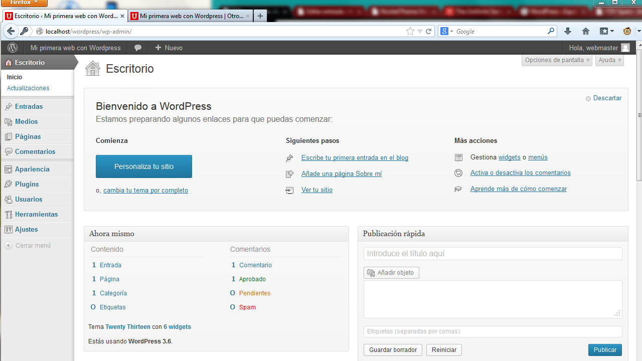 Instalar WordPress. Paso 9