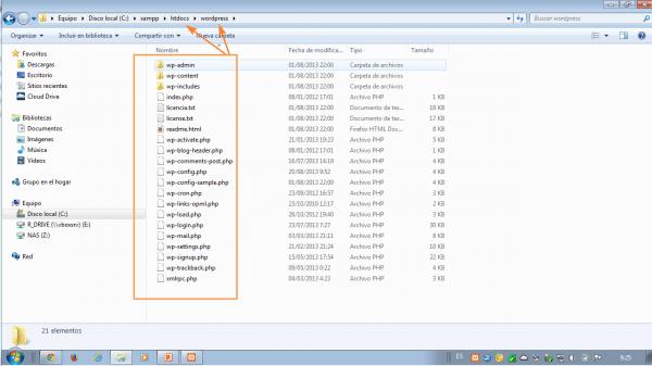 Como instalar wordpress en xampp. Accede a la carpeta htdocs