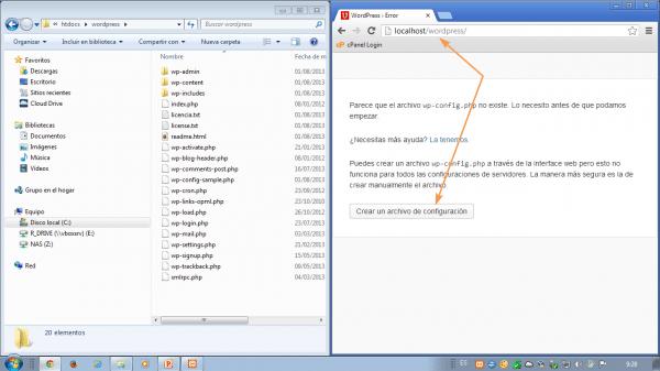 Como instalar wordpress en xampp. Inicia la instalación de wordpress