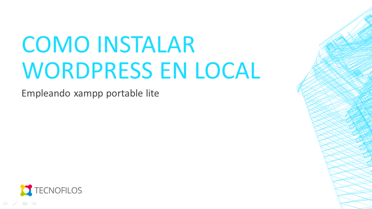 Como instalar wordpress en xampp portable lite
