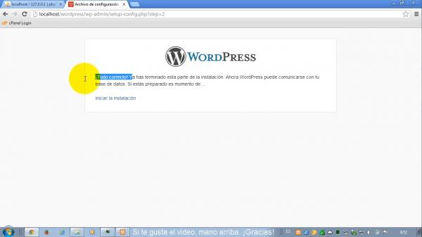 Como instalar wordpress en xampp. Paso 4