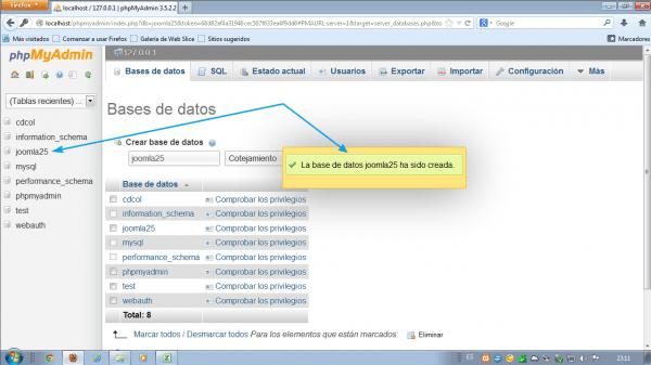 Comprobaciones. Como instalar Joomla 2.5 en xampp
