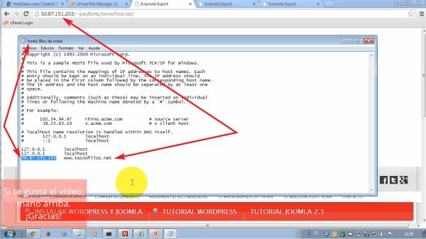 Configurar archivo host de Windows con la IP y el nombre de tu dominio