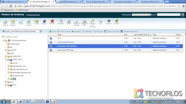 Como restaurar una copia de seguridad realizada con BackWPup