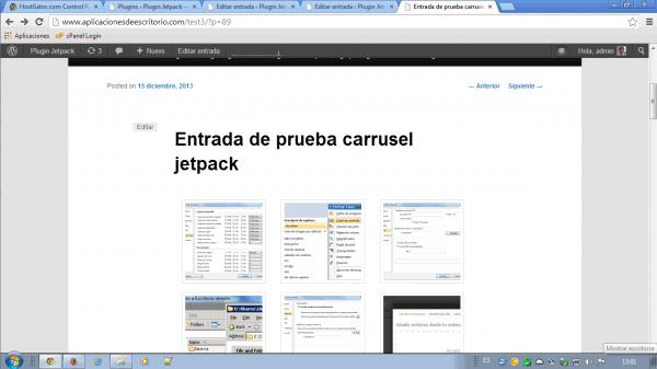 jetpack plugin carrusel