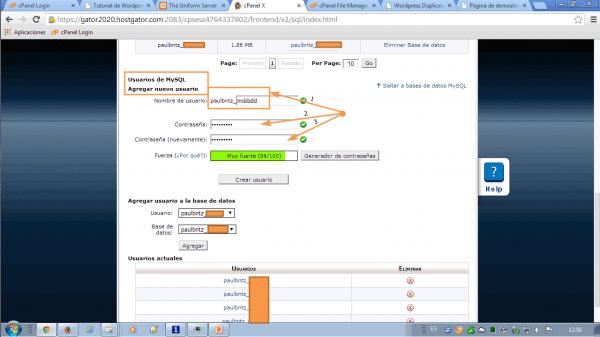 Crear una base de datos con cpanel. Guía Práctica