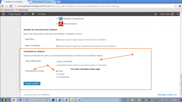comentarios jetpack wordpress