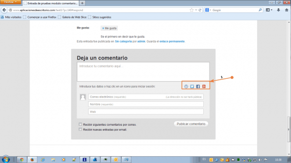comentarios jetpack wordpress
