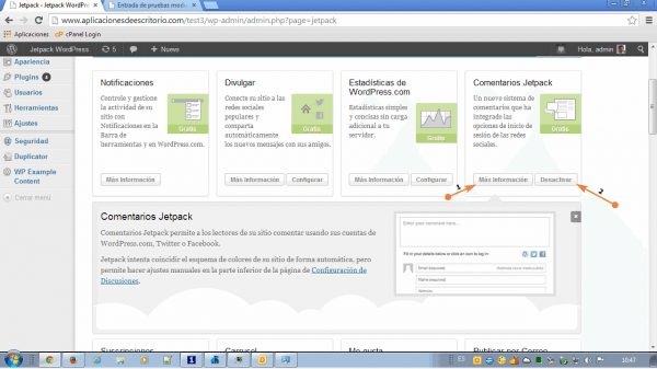 jetpack wordpress comentarios