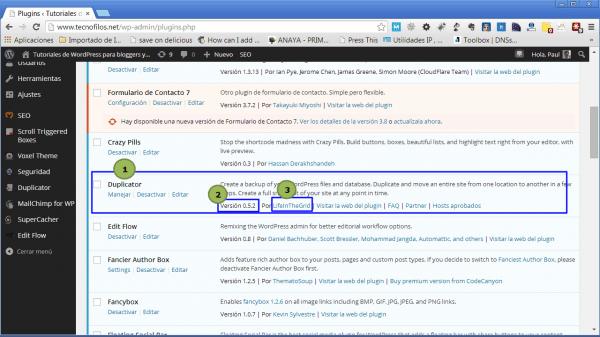 copia seguridad wordpress plugin duplicator