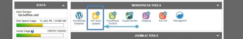 Gestor de actualizaciones automáticas de WordPress