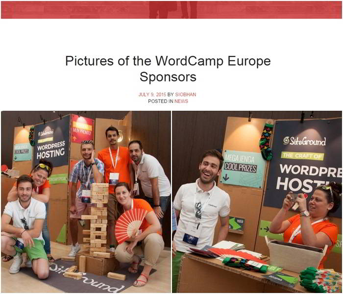 SiteGround patrocinador de la WordCamp 2015 en Sevilla