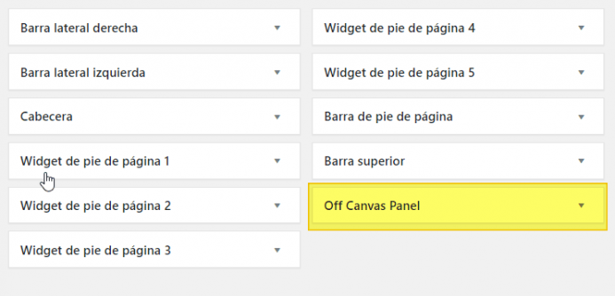 "Área de widget ""Off Canvas Panel"" disponible en GeneratePress Premium"