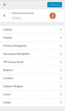 """Generatepress Premium - Opciones de personalización """"Colores"""""""