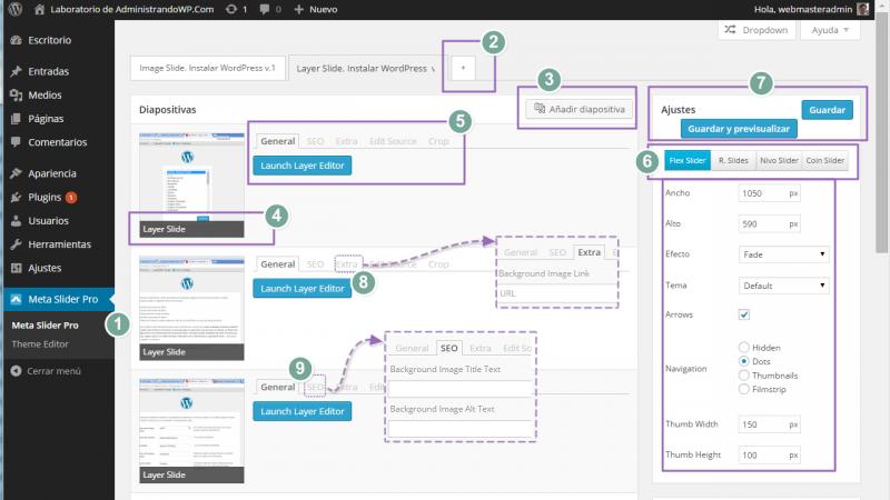 Meta Slider Pro. 9 opciones de configuración para tu pase de diapositivas