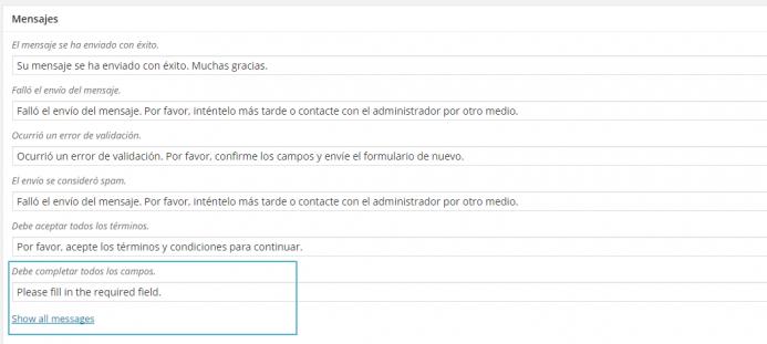 Traducción a español de los mensajes de error de contact form 7