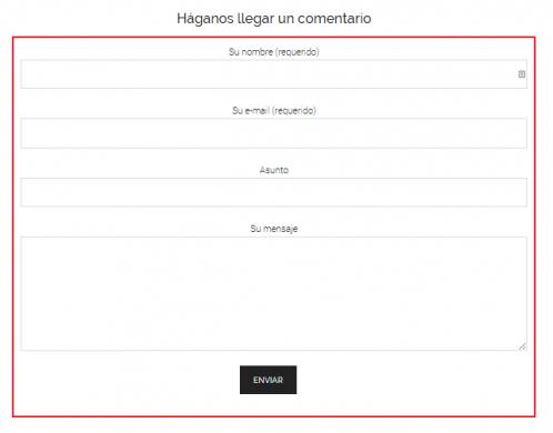 Ejemplo segundo de formulario de contacto creado con contacto form 7
