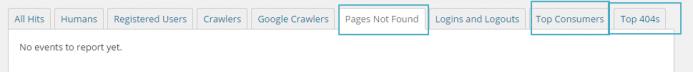 Paginas no encontradas, top usuarios y top errores 404 en Wordfence