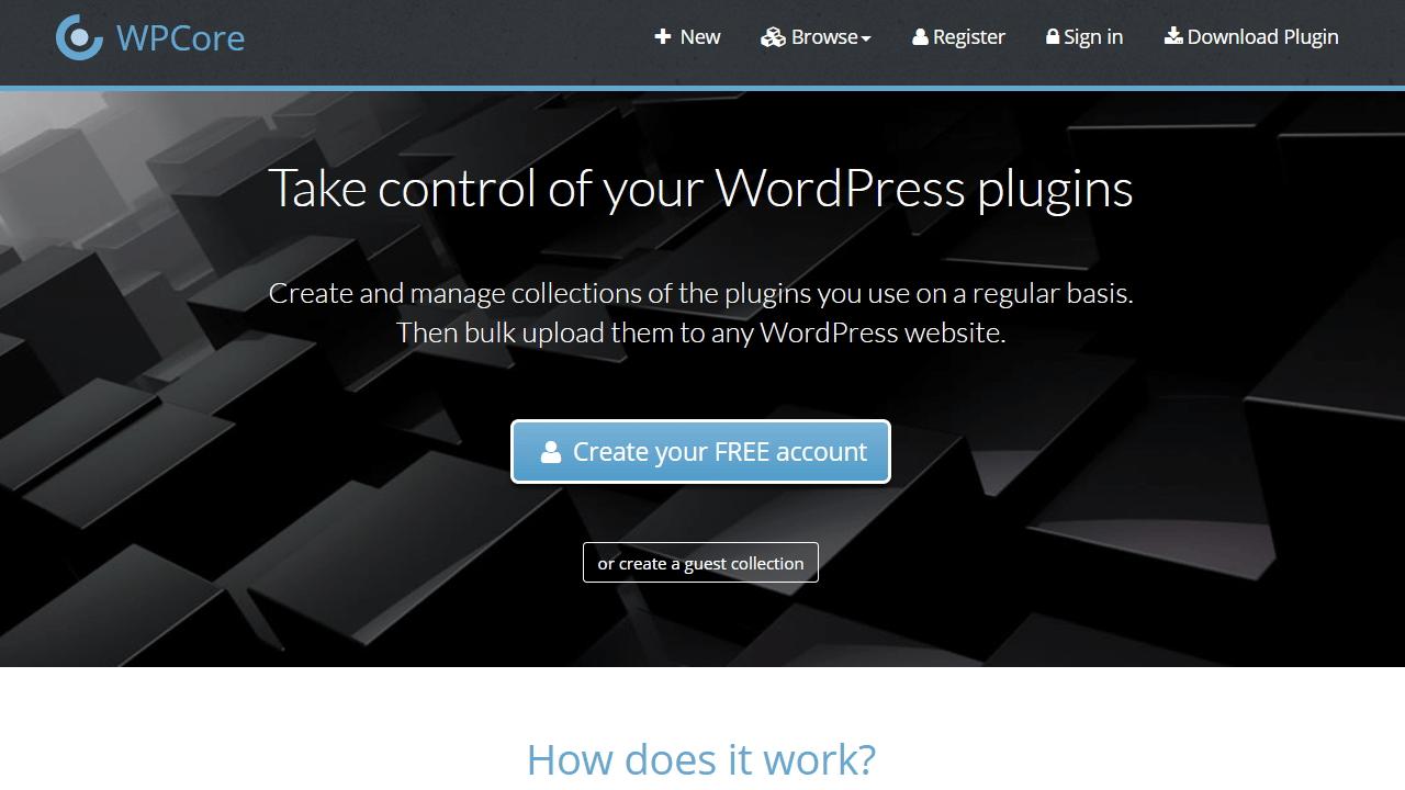 wpcore.com colecciona e instala de golpe una lista de plugins