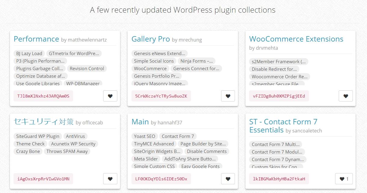 Colecciones de plugins recientemente actualizadas