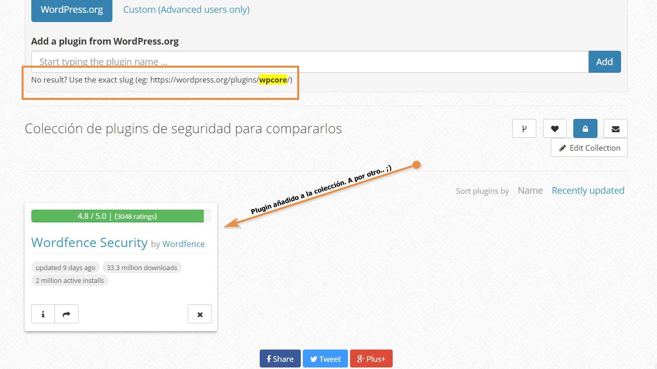 Como se ve un plugin en tu colección de wpcore.com