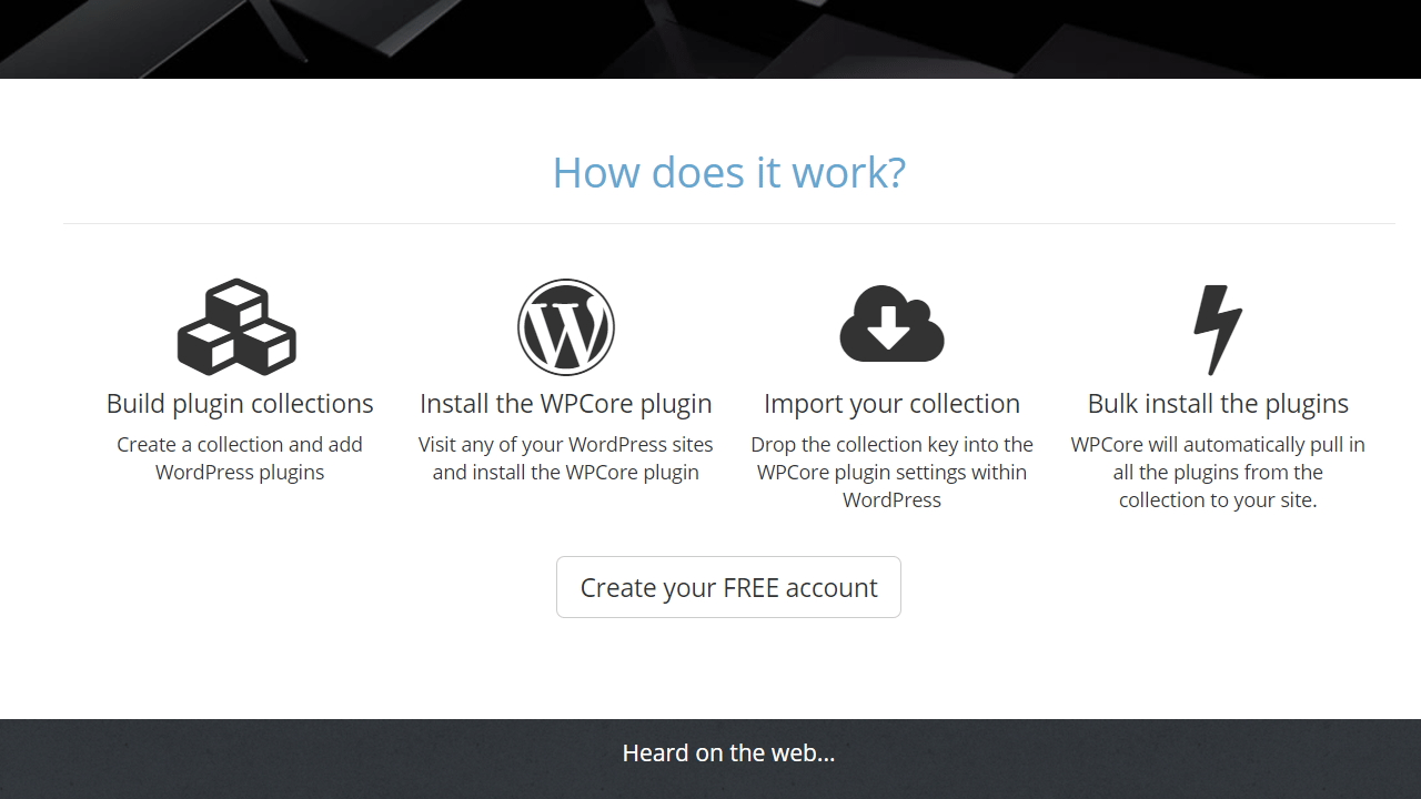 resumen gráfico sobre como funciona wpcore.com