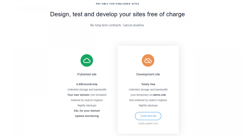 Diseña, prueba y desarrolla sitio gratuitamente en pilvia.com