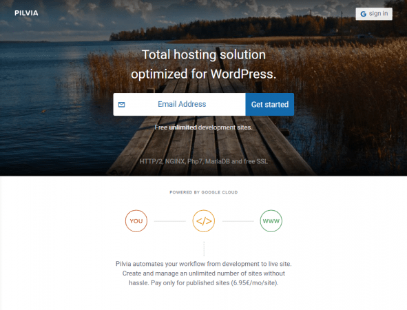 Por tu correo en el formulario y empieza a crear un nuevo sitio en pilvia.com
