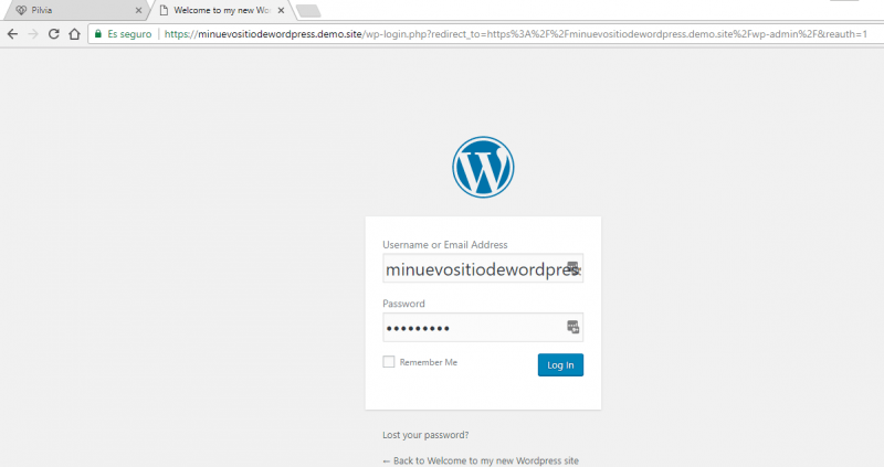 Login de WordPress