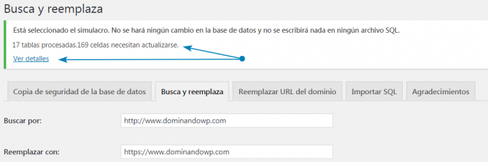 Busca y reemplaza en Search & Replace