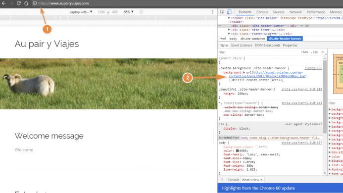 Como localizar las referencias http para corregir la advertencia de contenido mixto con el inspecto de chrome