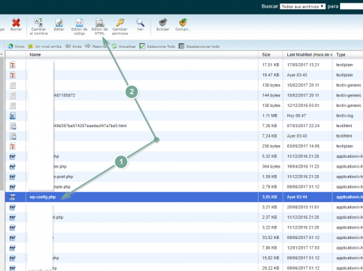 Edita el archivo wp-config.php con el editor de código de SiteGround