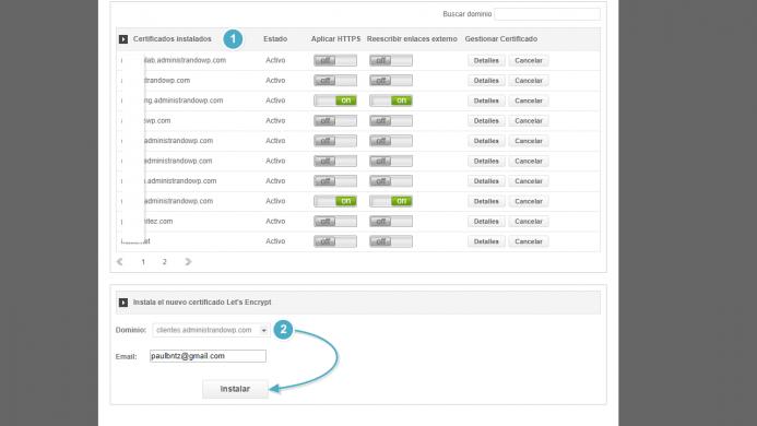 Instalar un nuevo certificado de Let´s Encrypt en SiteGround