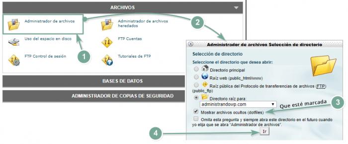 Localizar el archivo htaccess en SiteGround desde el cpanel