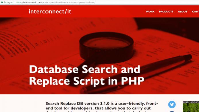 Script search and replace de interconnetit