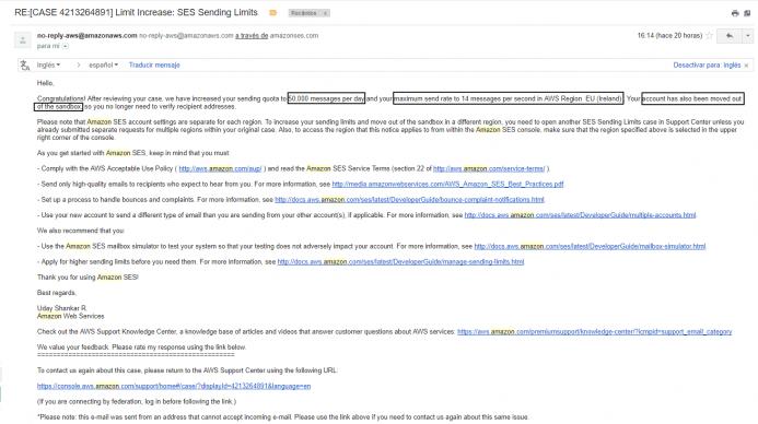En este momento ya puedes emplear su servicio de correo SMTP.