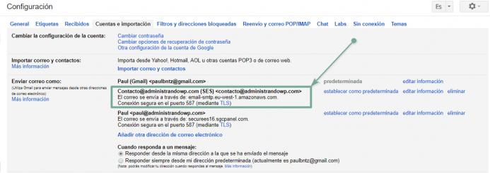 Para verificar que el servicio funciona puedes configurar la cuenta en tu cliente de correo de Gmail y probar
