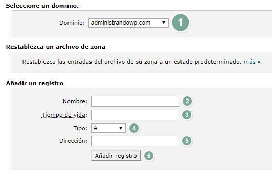 Selecciona el dominio a emplear en Amazon SES