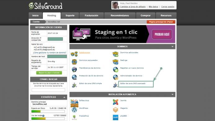 Tienes que acceder a la herramienta avanzada de zona DNS de tu dominio y añadir varios registros.