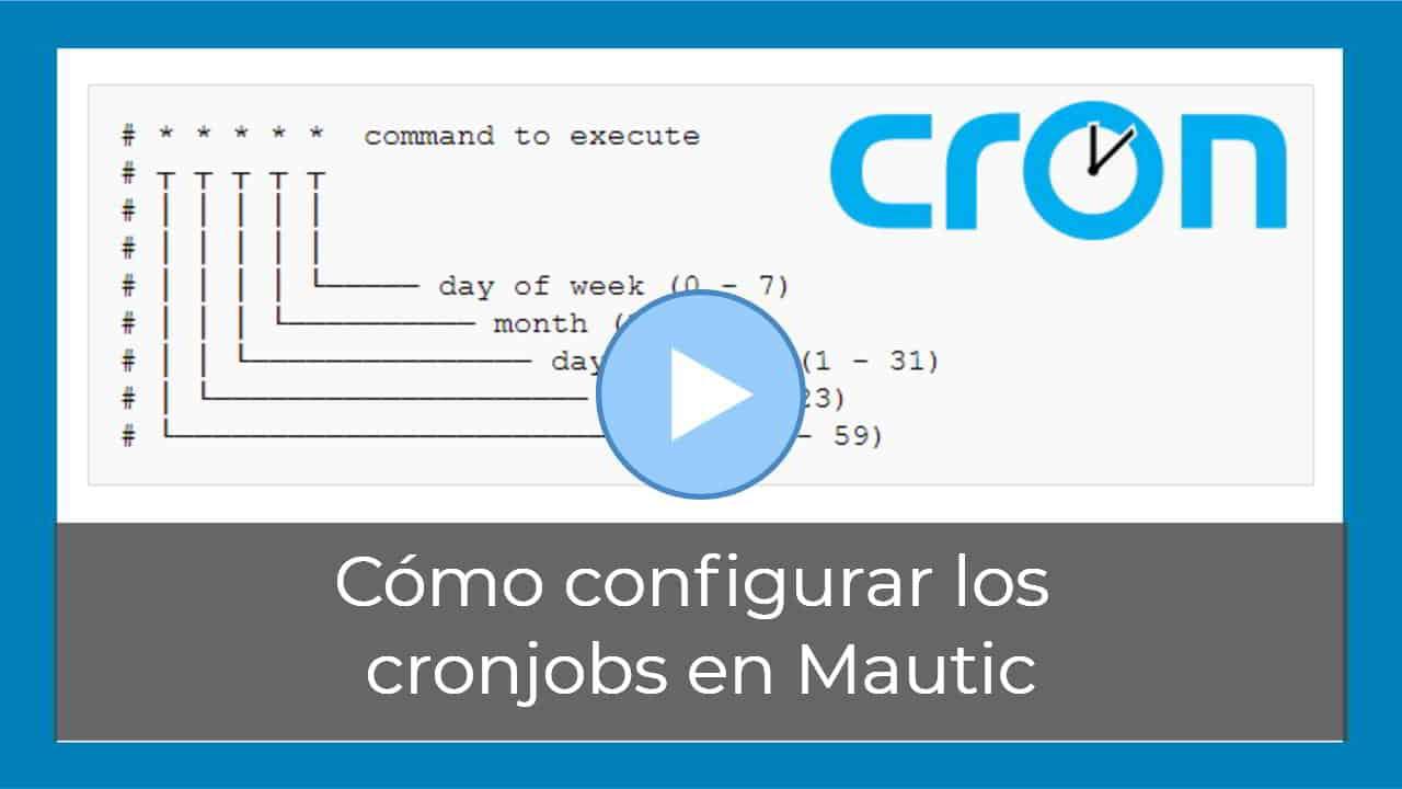 Cómo configurar los cronjobs en Mautic