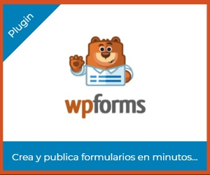WPforms crea formularios en minutos en WordPress