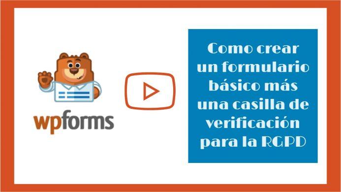 Como crear un formulario de contacto básico más una casilla de verificación para la RGPD