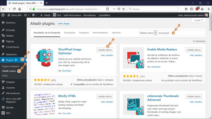 Como instalar ShortPixel en WordPress