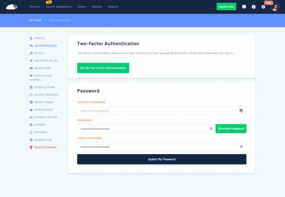 RunCloud - Segundo factor de autenticacion
