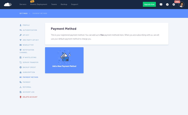 RunCloud - Metodos de pago