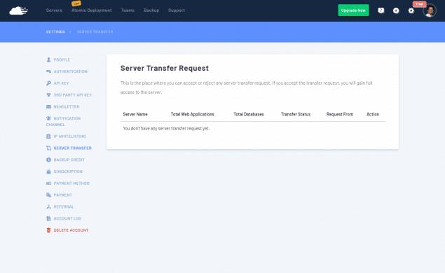 RunCloud - Transferencia de servidor