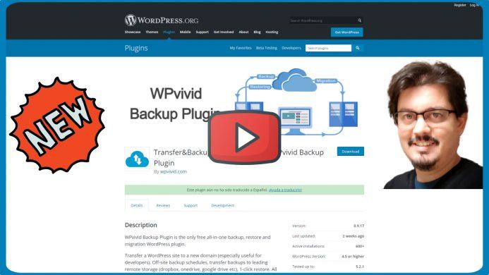WPvivid Backup nuevo plugin para hacer copias de seguridad con WordPress