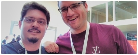Selfie con Yoast de Val en la WordCamp Europe 2015
